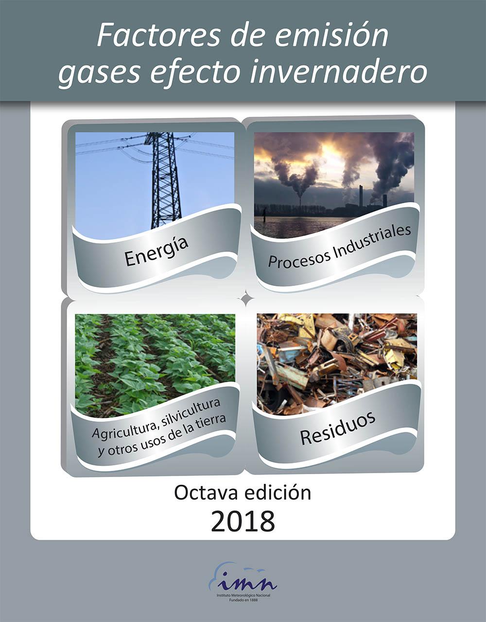 Factores de emisión GEI, Octava edición, 2018