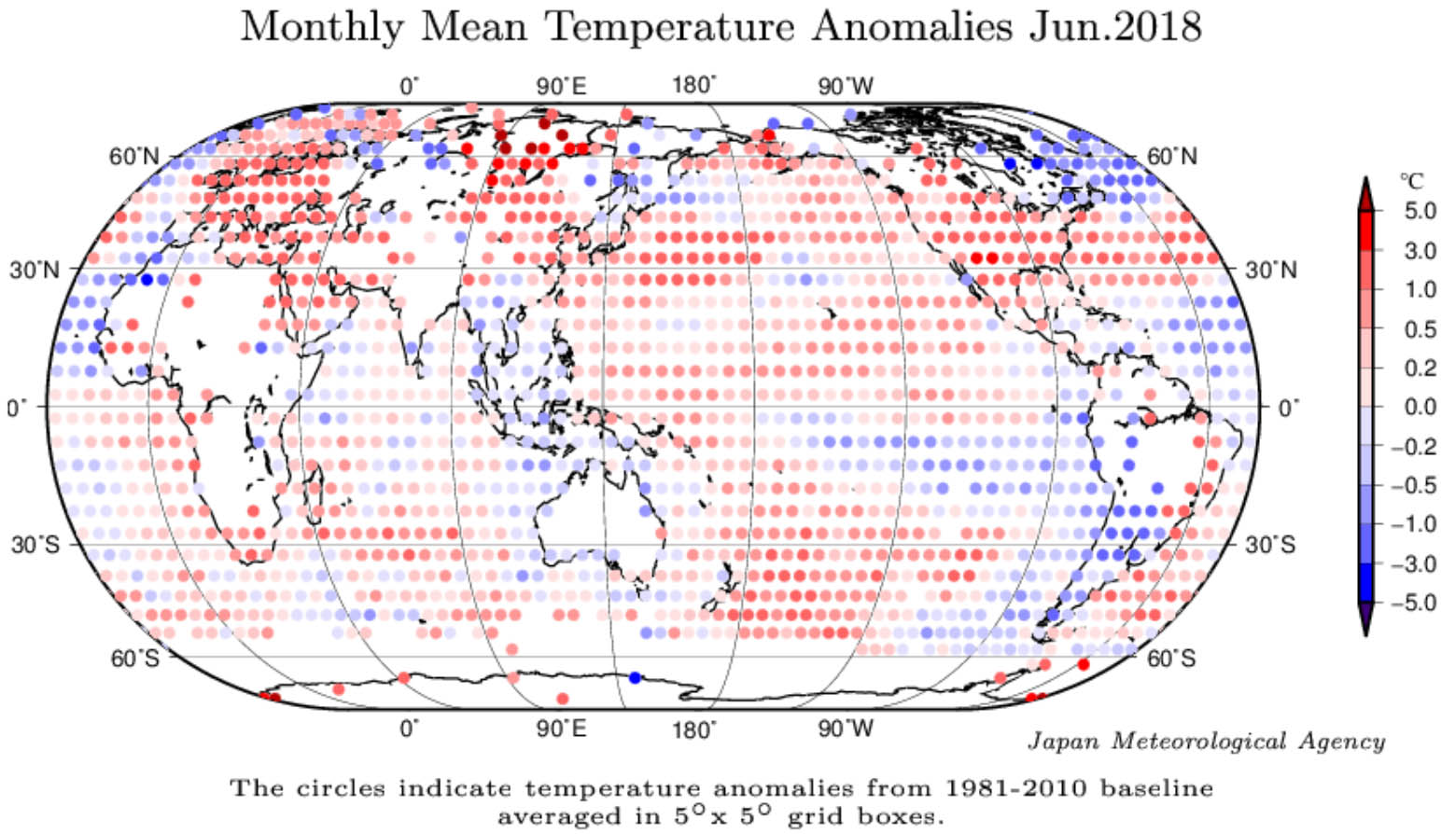 Junio de 2018: el quinto mes más cálido