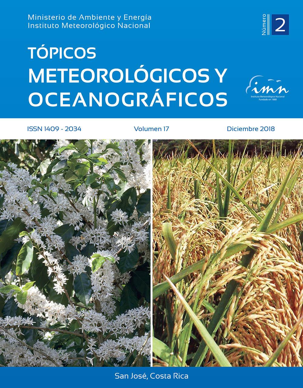 Revista Tópicos Meteorológicos, Vol. 18-1, 2019